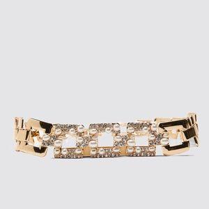 Zara sparkly pearl link belt